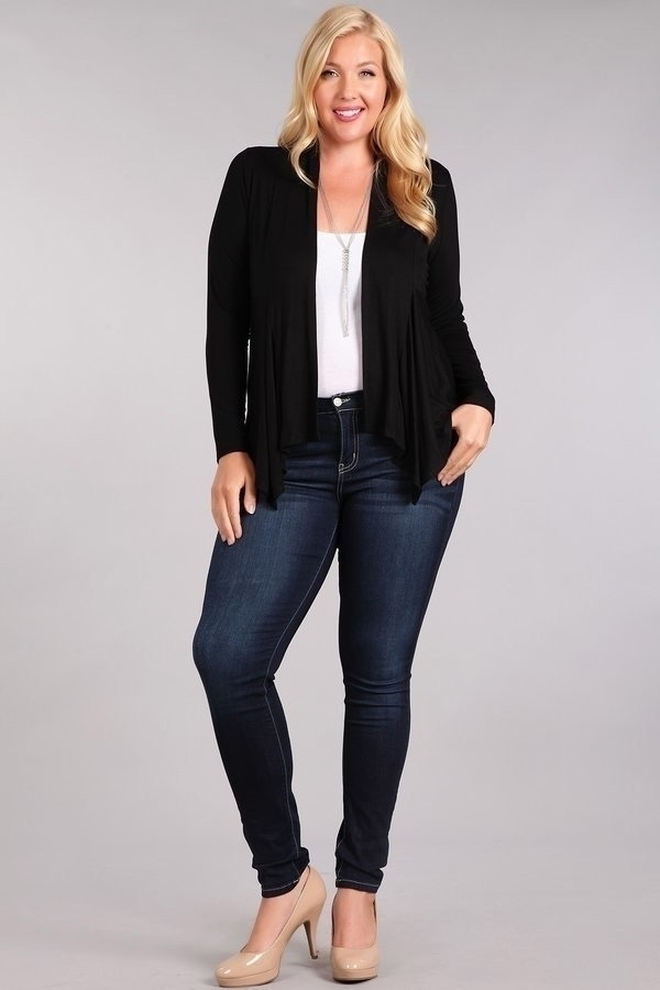 cute cheap high quality guarantee wholesale sales Solid Layering Cardigan Plus